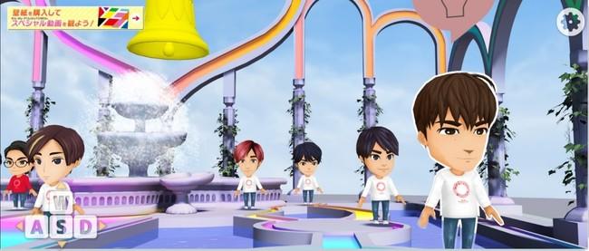 「SixTONES」のメンバー(白い服)