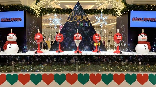 大阪高島屋でのクリスマスパフォーマンス(2018年12月)