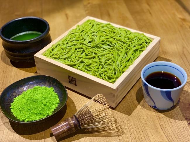 """※""""宇治抹茶切り""""せいろ蕎麦 一人前となります。※ 抹茶の粉はイメージとなります。"""