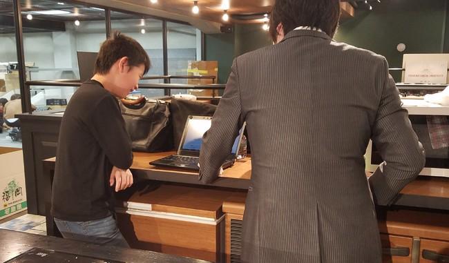 神崎氏からメンタルアドバイスを受ける中学1年生の宝生君