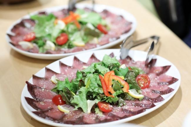 岡山県産の食材を使った料理