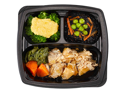 そよ風のやさしい食感商品一例:豚肉の生姜焼き