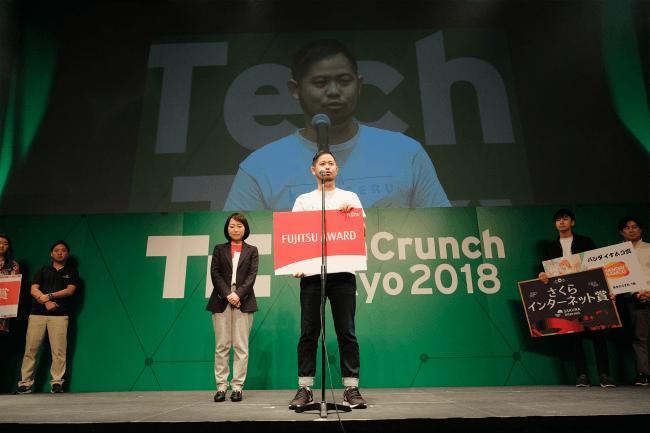 TechCrunch Tokyo 2018 スタートアップバトル授賞式の様子