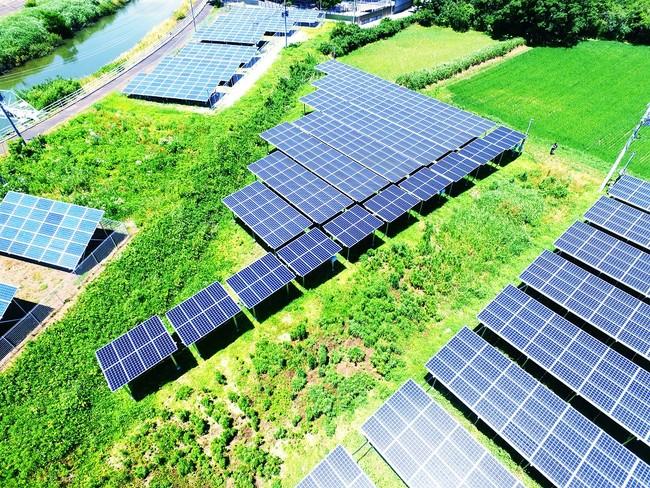 「グリーン発電所千葉県睦沢町1号」を含む空撮写真