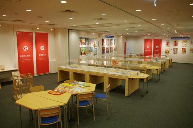 無料の防災体験学習施設「そなエリア東京」内、防災ギャラリー