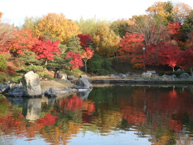夕照の庭(滋賀県営都市公園びわこ文化公園)