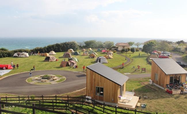 キャンプ場(長井海の手公園 ソレイユの丘)