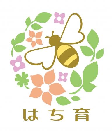 「はち育®」ロゴ