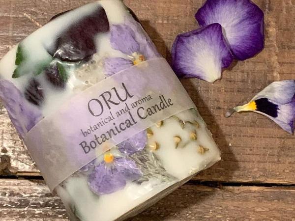「ORU」ロスフラワーを使ったボタニカルキャンドル