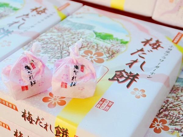 小田原フラワーガーデンオリジナル商品「梅だれ餅」