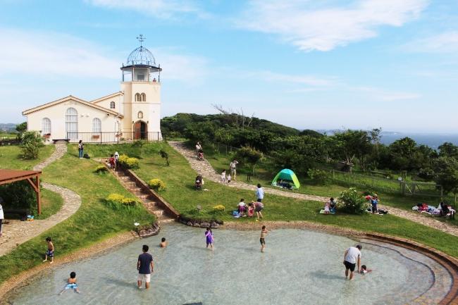 無料で楽しめる「じゃぶじゃぶ池」(横須賀市長井海の手公園 ソレイユの丘)