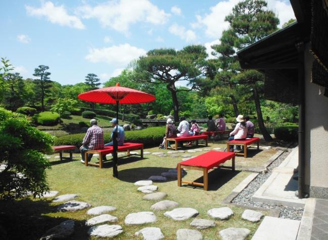 茶室「夕照庵(せきしょうあん)」(滋賀県営都市公園びわこ文化公園)