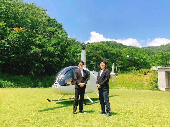 左より、株式会社AirX 手塚究氏、株式会社温泉道場山崎寿樹