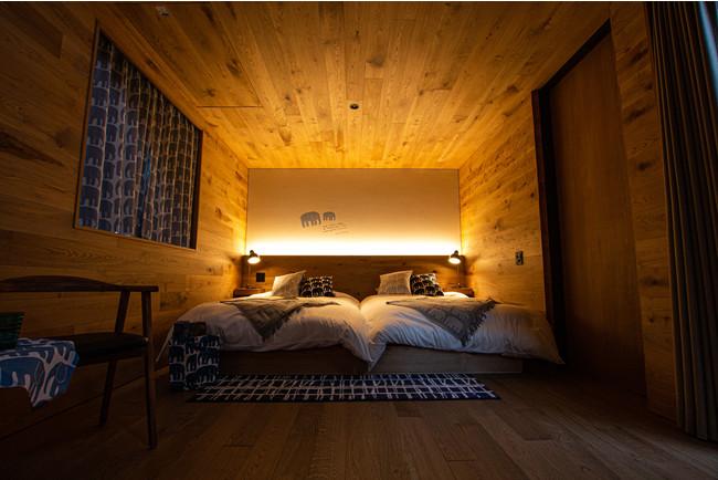 サウナスイートキャビン 寝室