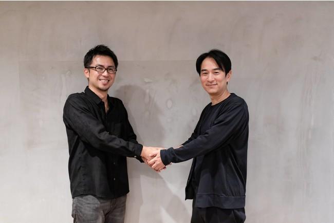 (左) 株式会社ROX 代表取締役 中川達生 (右) 株式会社Bsmo 代表取締役 清水正