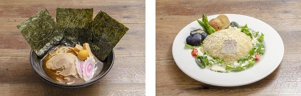 ▲凛ちゃんラーメン(左)/▲Snow halationチーズホワイトカレー(右)