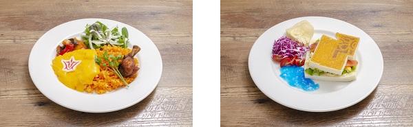 ▲藤丸立香の特製オムライス/▲ギルガメッシュの石板サンド
