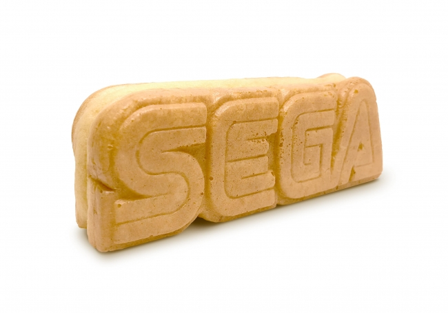 ▲セガのブランドロゴをそのまま焼き菓子で表現した『セガロゴ焼き』