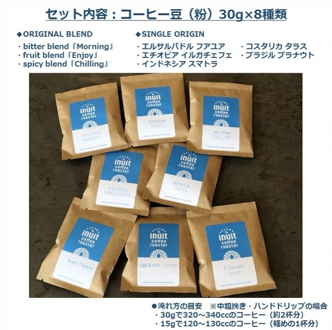 「Specialty Coffee 飲み比べセット」内容