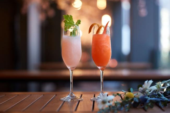 (左)Peach & Celery(右)Orange & Carrot
