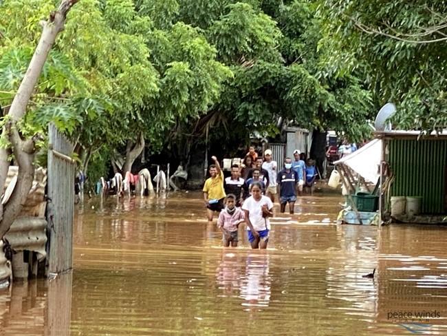 洪水が発生したディリ市内の様子1