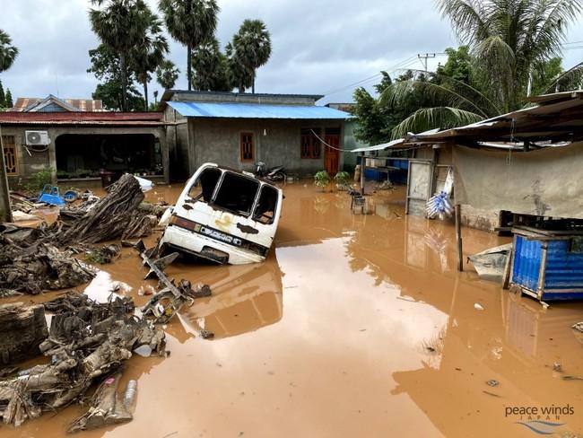 洪水が発生したディリ市内の様子2