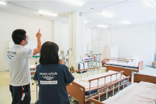 岡山県一時療養待機所の様子(2021年5月撮影)