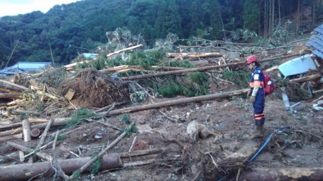 災害救助犬による捜索活動(芦北町)