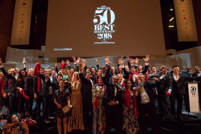 The World's 50 Best Restaurants 2018 授賞式の様子