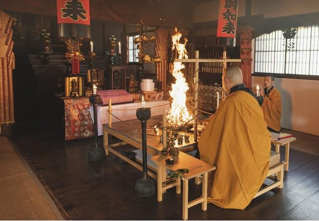 「真言宗御室派総本山 仁和寺」での桜祈願の様子(2)