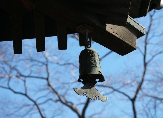 東寺の五重塔の軒先に吊るされている風鐸