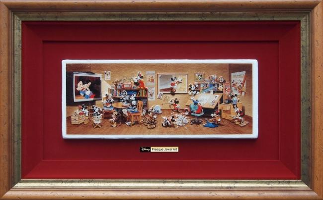 〈ディズニーキャラクター〉アートコレクション Many Stories Of Mickey Mouse Are All Gathering 額装サイズ:46.5cm×76cm  228,000円 (C)Disney
