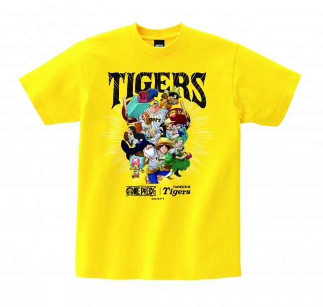 ワンピース×タイガース Tシャツ 3,246円(税抜) ※7月5日発売