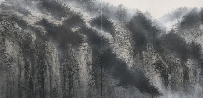 「断崖図」(部分)2018年、高野山金剛峯寺蔵