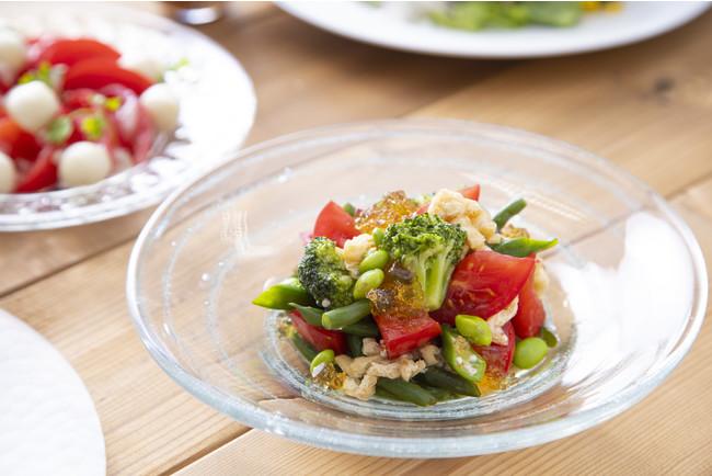 1/2日分の緑黄色野菜と和風ジュレのサラダ