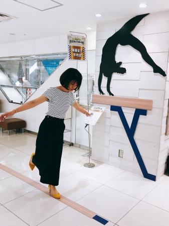本館3階「女子体操 平均台」展示スポット