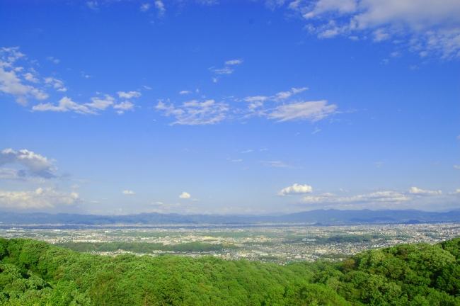 360°の大パノラマが楽しめる「明神山」からの眺望