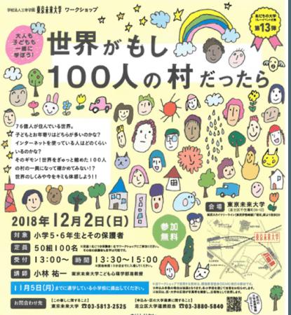 あだちの大学リレーイベント企画『世界がもし100人の村だったら』12月2 ...