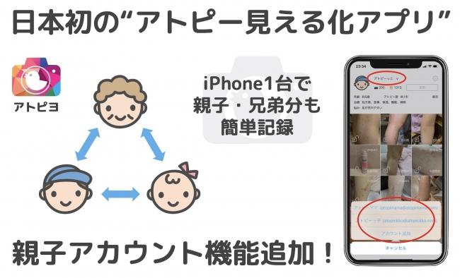 親子アカウント機能-アトピヨ