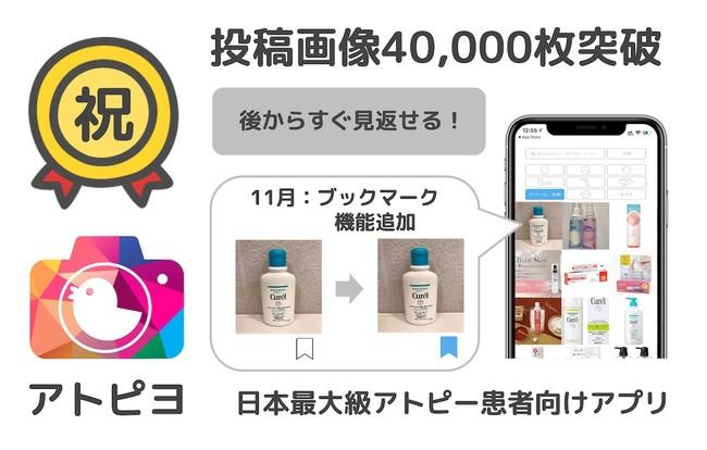 投稿画像4万枚突破-アトピヨ