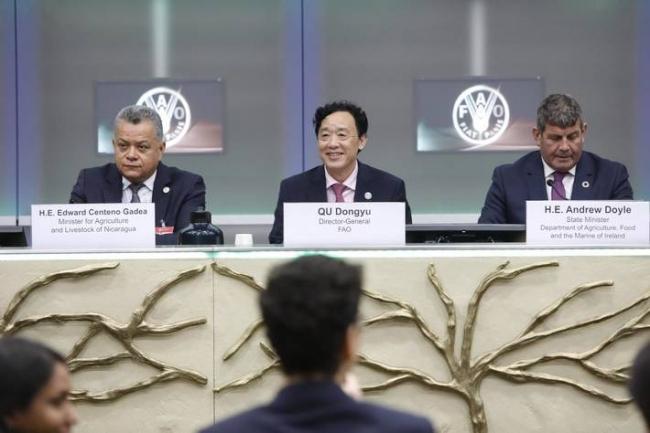 国際植物防疫年の開始を宣言するFAO事務局長 Photo (C)FAOGiuseppe Carotenuto