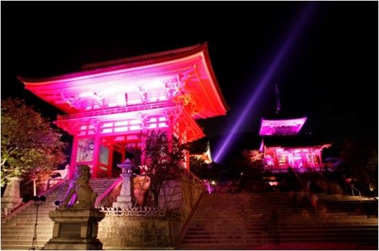 京都 清水寺ライトアップの様子(昨年度)