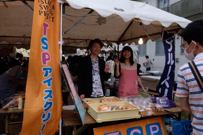 筑波大学宿舎祭での販売の様子