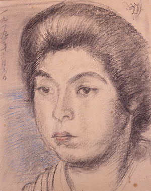 岸田劉生《内藤夫人の像》1919年