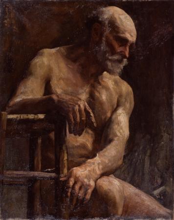 中村不折《裸体》1903~1905年頃