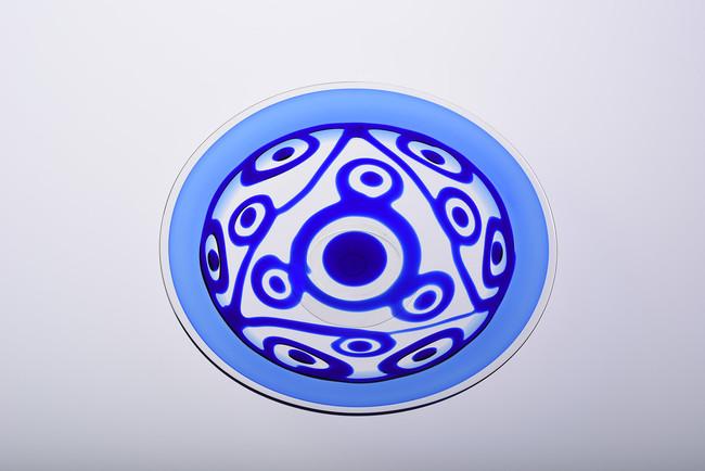 舩木倭帆《垂描文皿》  1987(昭和62)~2012(平成24)年頃 島根県立美術館蔵