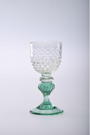 舩木倭帆《アラレモール脚ワイングラス》1987年(昭和62)年頃 島根県立美術館蔵