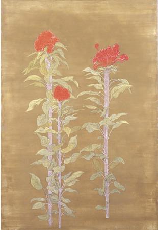 石本 正《鶏頭》1974(昭和49)年 浜田市立石正美術館蔵