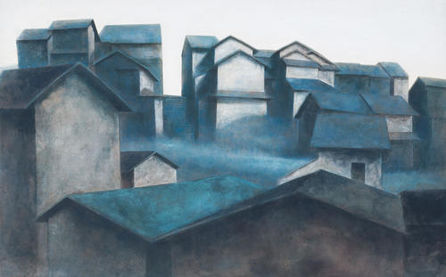 石本 正《五条坂風景》1950(昭和25年) 個人蔵(浜田市立石正美術館寄託)