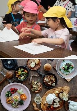 (上)食育セミナー・(下)MDEI
